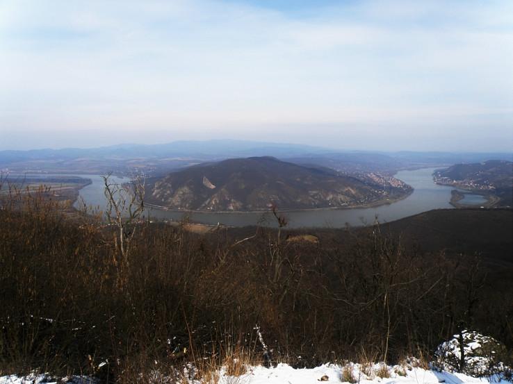 Výhľad na ohyb Dunaja z Prédikálószék