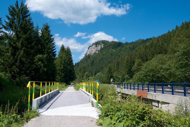 Opravený železničný mostík