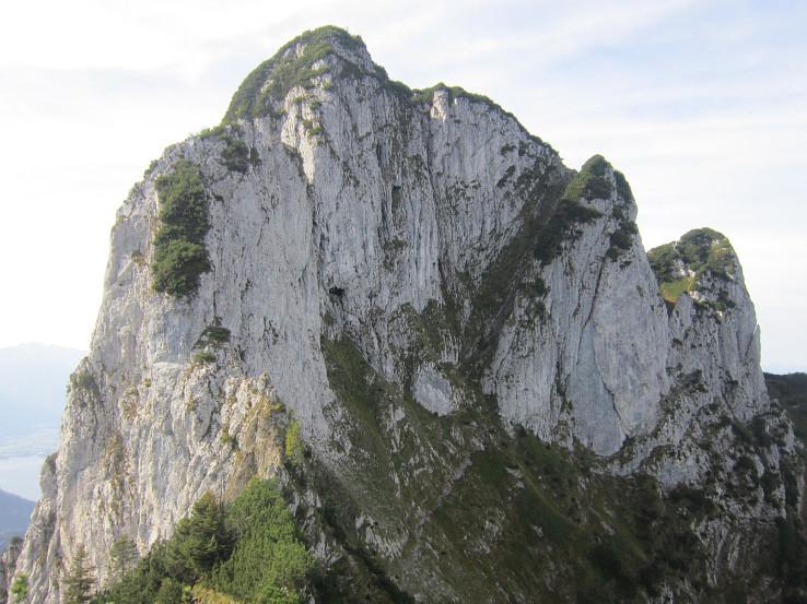 Vrchol z Ostgratu, napravo Grüne Gasse