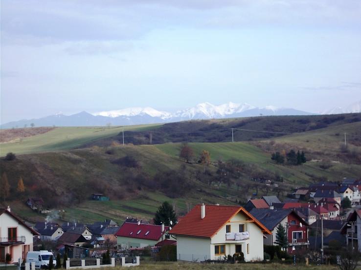 Západné Tatry od Liptovských Sliačov