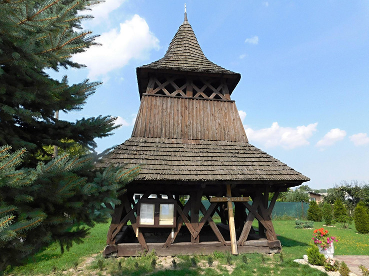 Drevená zvonica v Malých Ozorovciach