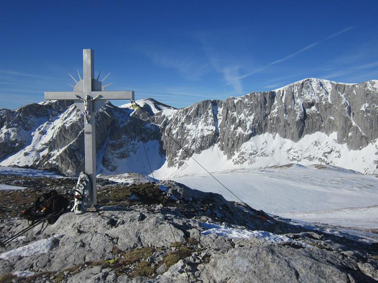 Na vrchole Karlhoch Kogelu