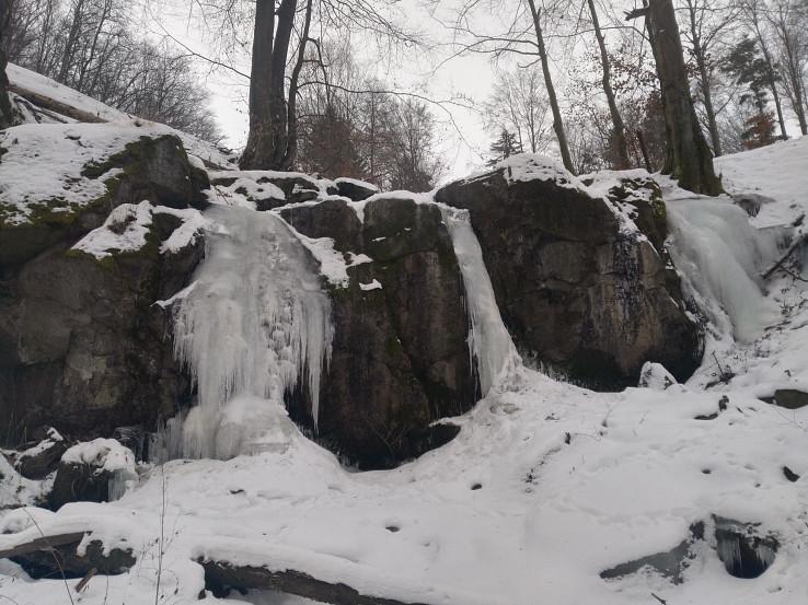 Rudniansky vodopád v zime