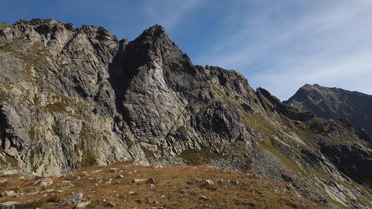 Volia veža, pohľad z výstupu na Mengusovský Volovec v roku 2015