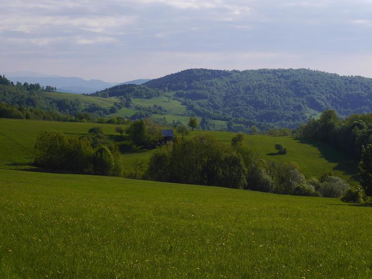 Typická krajinka Málinských vrchov