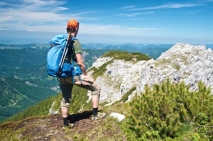 Rauer Kamm – vápencový hrebeň vedúcu na Ötscher zo severovýchodnej strany