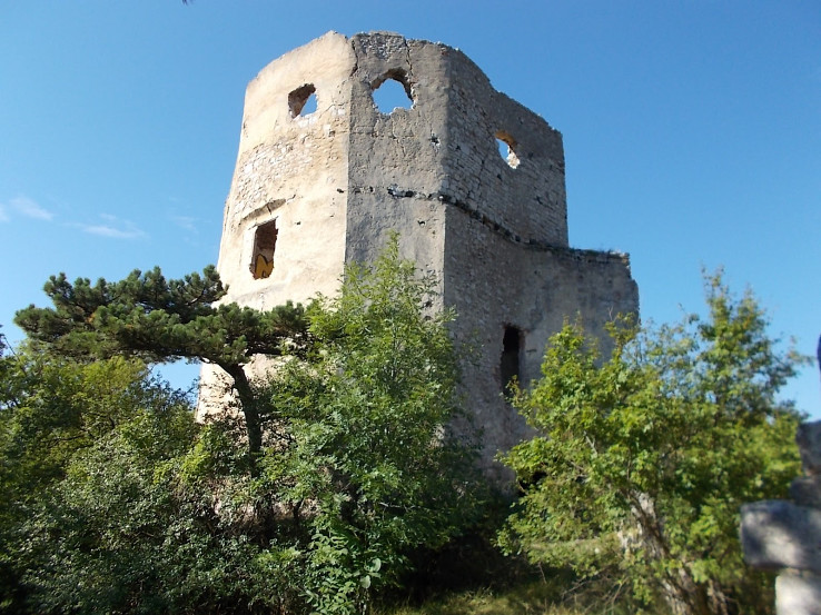 Emmerberg, ruiny obytnej časti