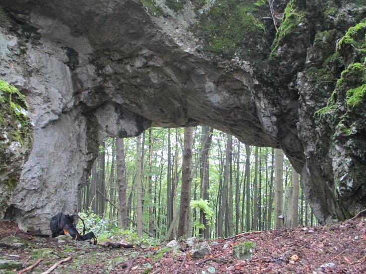 Veľká skalná brána na Čiernom vrchu
