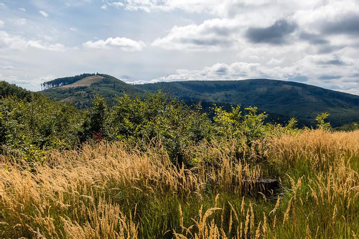 Na trase je veľa výhľadov – aj na vrch Skalnatá, kde sa zrodil nápad na túru