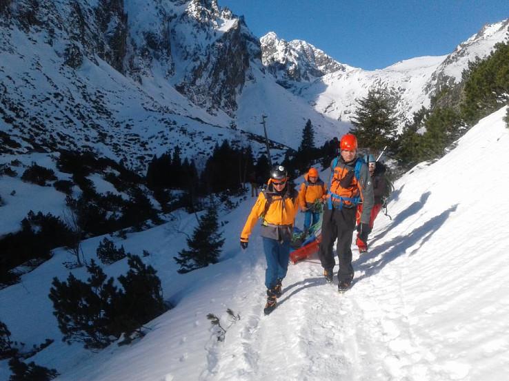 Záchranná akcia v Malej Studenej doline, foto HZS