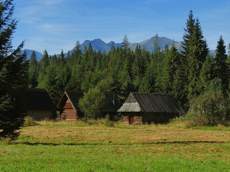 Jurgówske pastierske salaše - szałasy pasterskie Podokólne