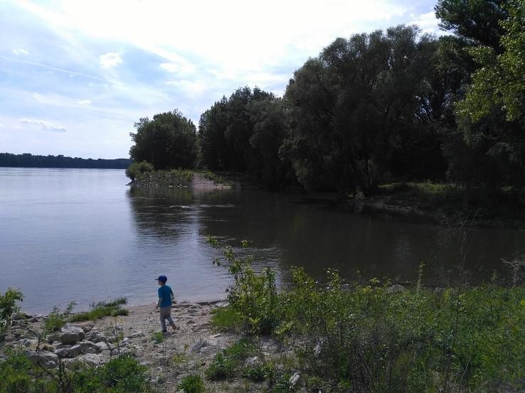 Vtok z Dunaja na jar za vyššieho vodného stavu