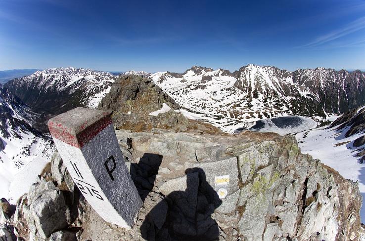 Szpiglasowy Wierch 2172 m (slov. Hrubý štít), Liptovské kopy, Západné Tatry, Svinica, končiare doliny Pięciu Stawów Polskich
