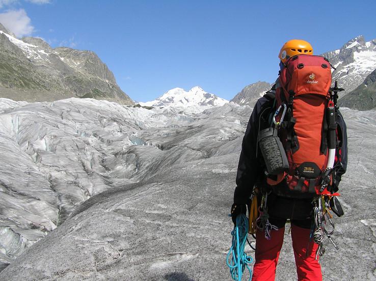 Nástup na Grosser Aletschgletscher