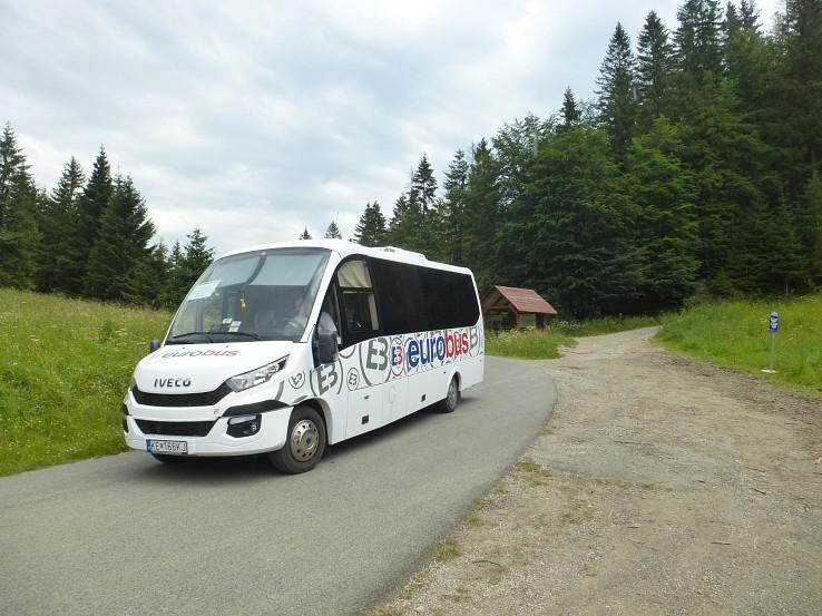 Letný minibus v sedle Kopanec (987 m)
