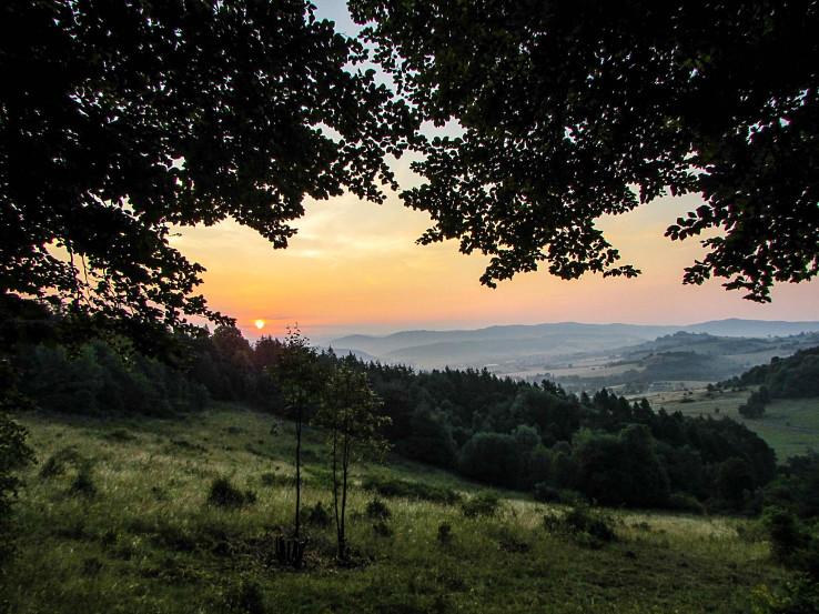 Západ slnka nad Detvou