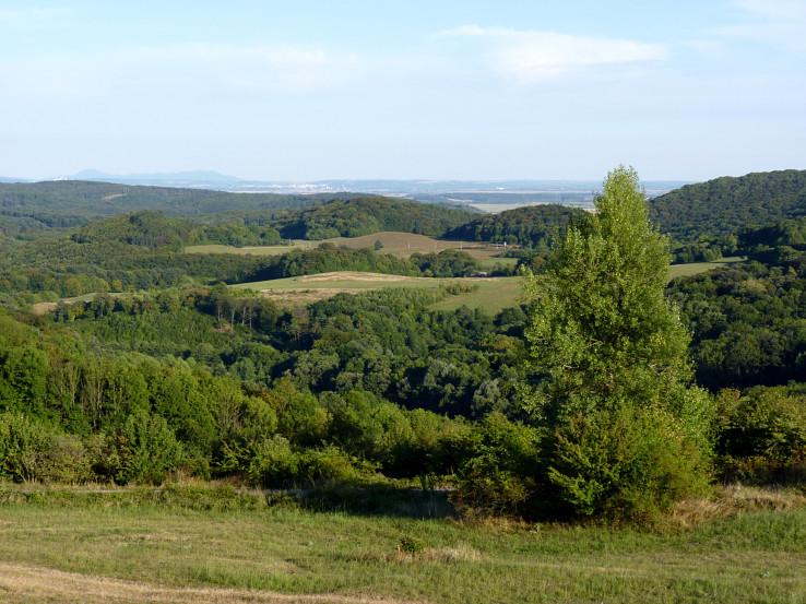 Výhled z rozhledny Rozběhy na východ
