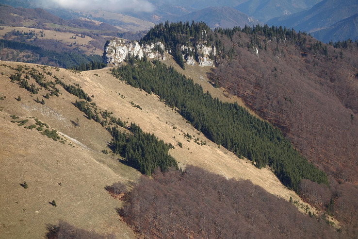 Bralo Ostrého brda pod Ostredkom