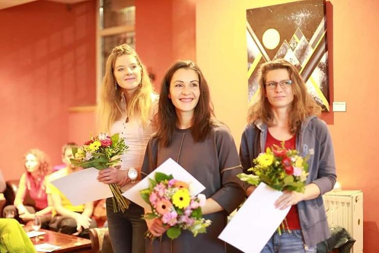 Vyhlásenie výsledkov SUT Ligy 2018, Soňa Kopčoková v strede, foto Adam Lisý