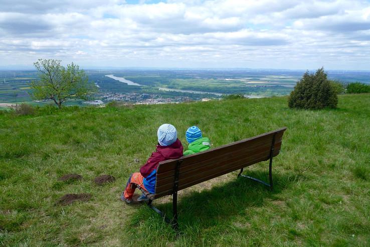 Výhľad z vrcholu Hundsheimer Berg