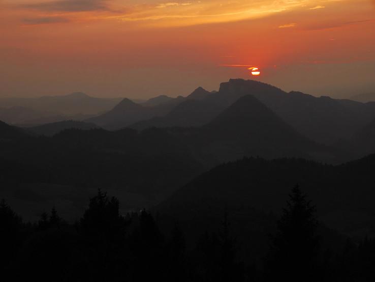 Západ Slnka nad Centrálnymi Pieninami