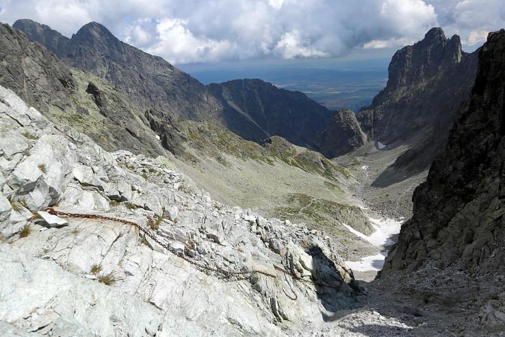 Pohľad zo Sedielka do Malej Studenej doliny