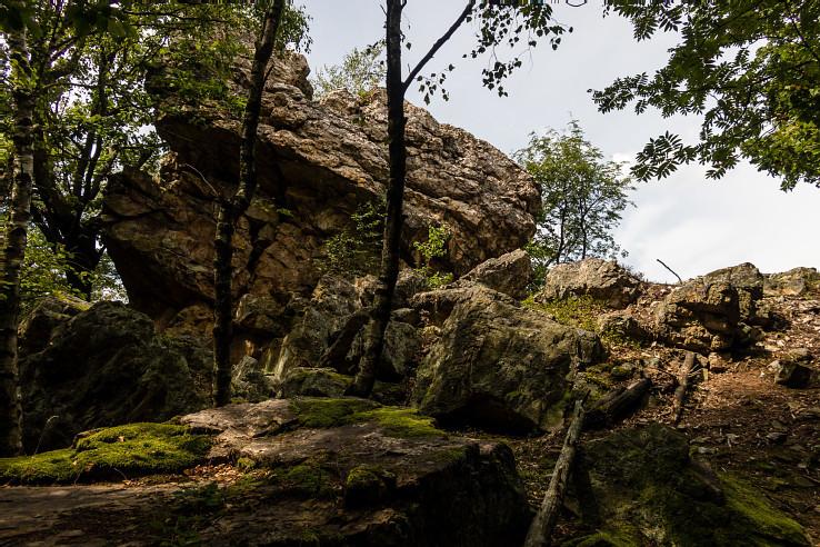 Godova skala, severný výbežok Klokočiny