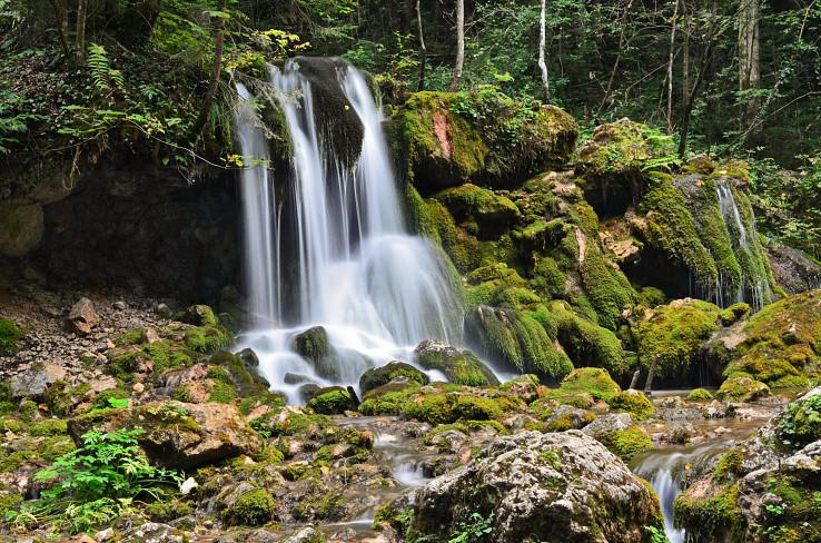 Vodopádik na začiatku doliny