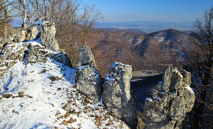 Bokšovské skalné mesto v zime
