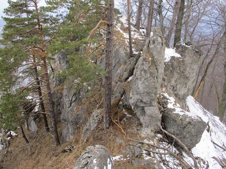 Skalky na hrebeni Malých Zrubísk