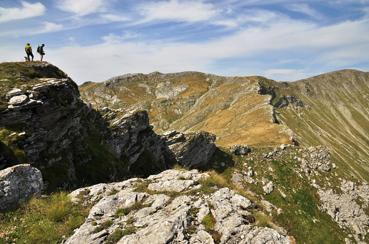 Planina Visočica - pohľad na Vito z vrchu Mokre stijene (Mokré skaly), (autor foto: Martin Baniari)
