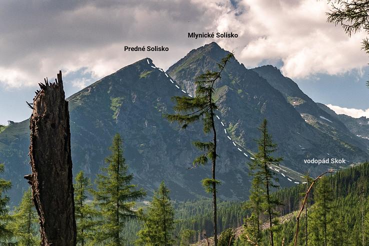 Na Predné Solisko mala ísť zaistená cesta typu via ferrata (vyznačenie je ilustračné)