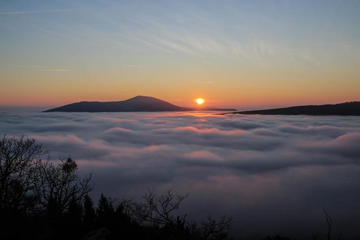 Západ slnka zo Studeného hradu