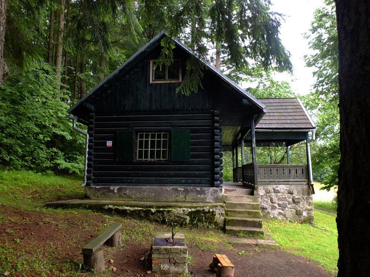 Cekový pohľad na chatu