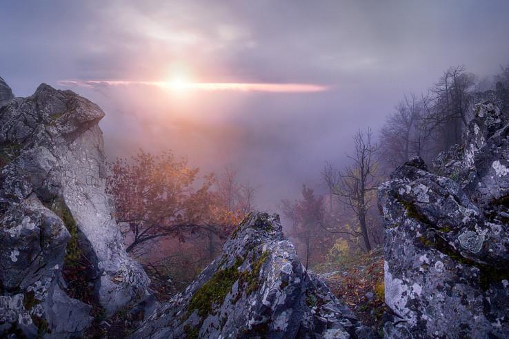 Karpatské oko - nezabudnuteľný moment pri východe slnka