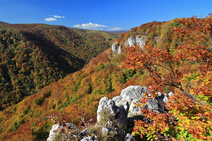 Útesy severnej časti Zádielskej planiny