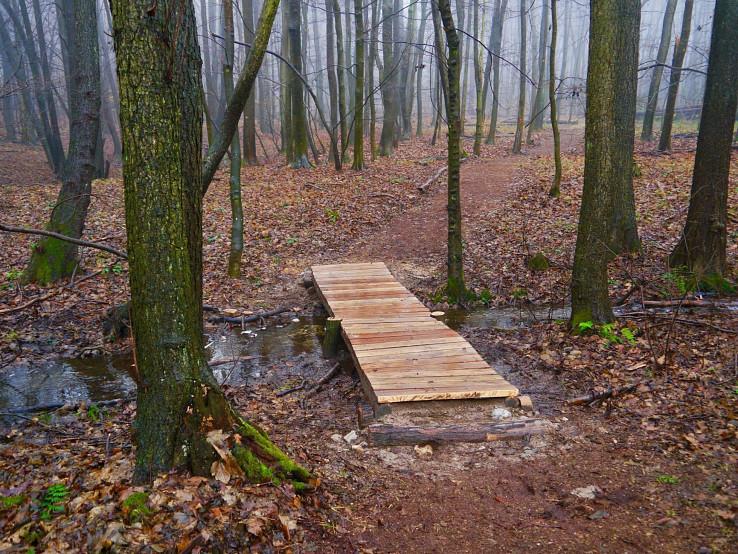 Nový mostík na Spariskách