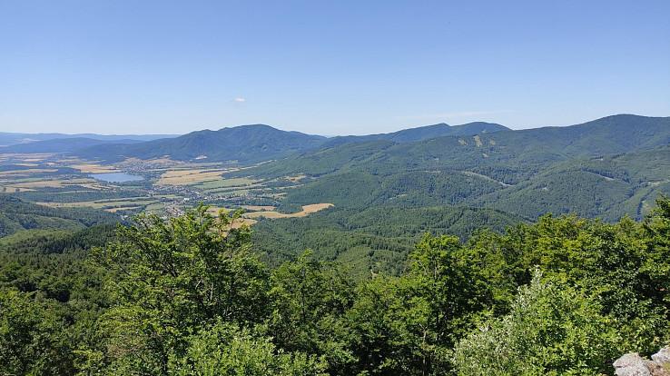 Výhľad z Temešskej skaly