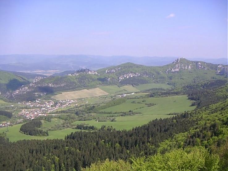 Súľovské vrchy zo Žibridu