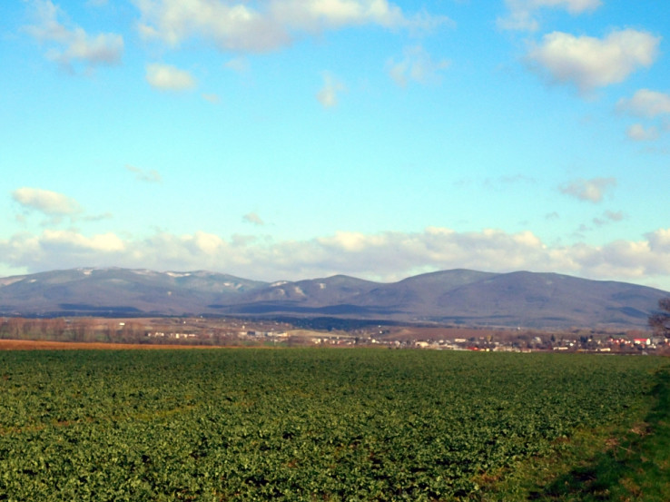 Pohľad na časť Slanských vrchov z cesty medzi Novým Ruskovom a Sečovcami