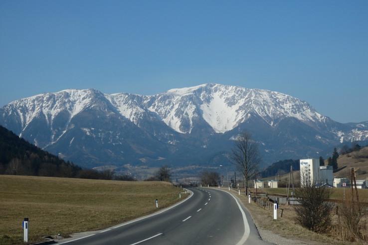 Schneeberg - Breite Ries z cesty