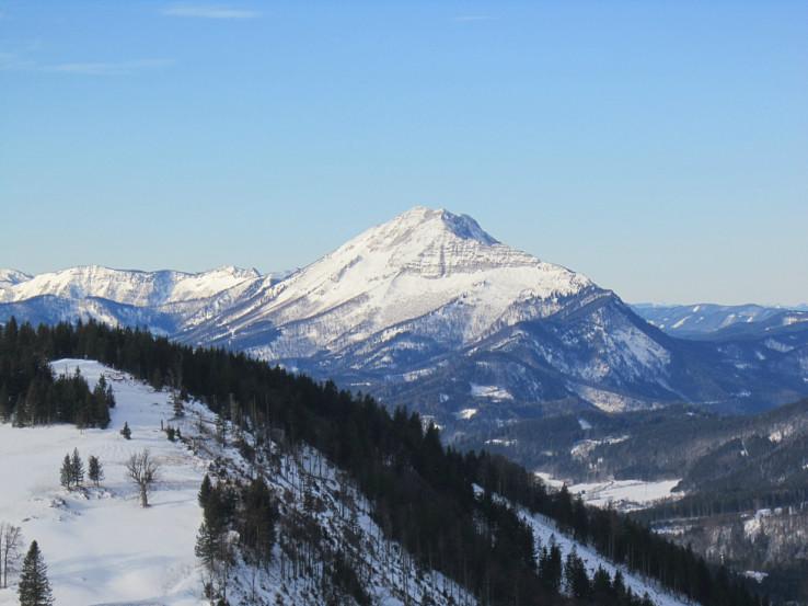 Pohľad z Tirolerkogelu na Großer Ötscher (priblížené)