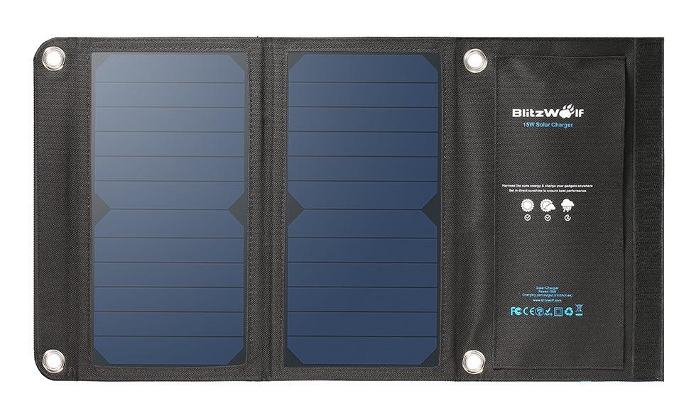 Solárna nabíjačka BlitzWolf BW-L2 15W 2A 2xUSB