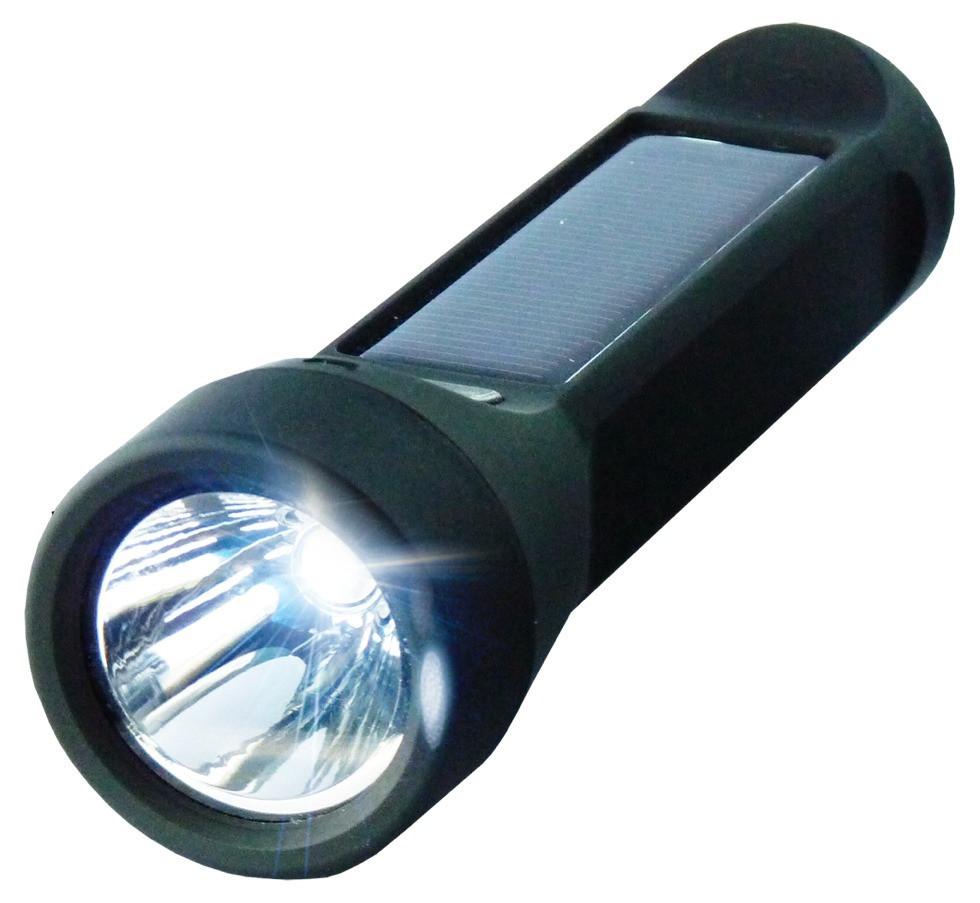 Solárna nabíjačka 2v1 2400mAh s 3W LED lampášom Salamander