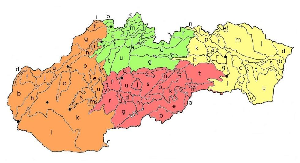 Geomorfologické celky Slovenska