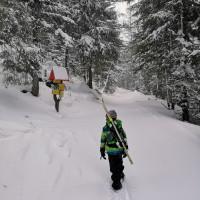 Pri rázcestí nad Matliarmi je čerstvého snehu ešte pomerne málo