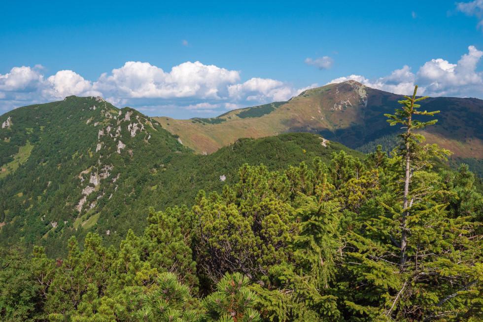 Naša hrebeňová trasa od Malého Kriváňa po Biele skaly