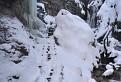 Zimná atmosféra pri Malom vodopáde