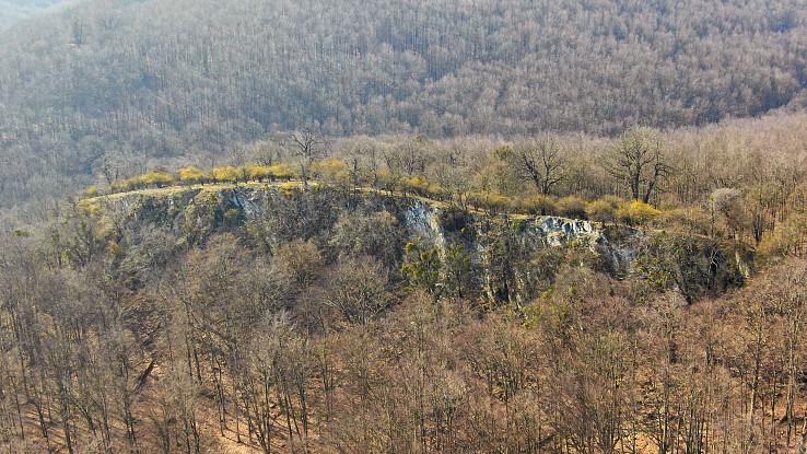 skalné bralo na konci Dlhého vrchu