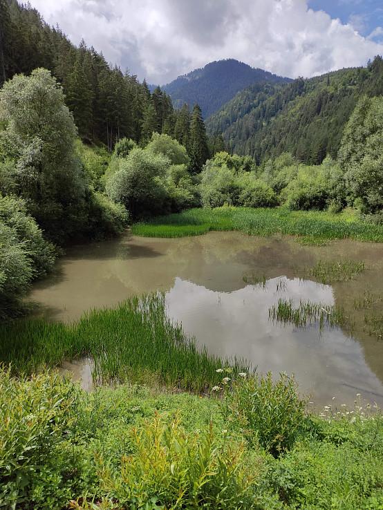 Nádrž na začiatku Iľanovskej doliny